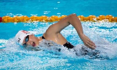 全国游泳冠军赛王简嘉禾破亚洲纪录 却无缘决赛