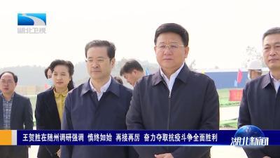王贺胜在随州调研强调 慎终如始 再接再厉 奋力夺取抗疫斗争全面胜利