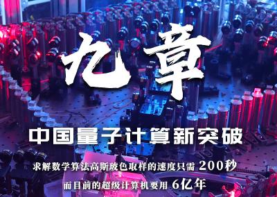 """实现里程碑式突破!中国量子计算原型机""""九章""""问世"""