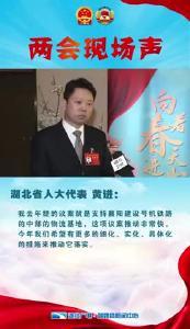 湖北省人大代表黄进:希望有更多具体化的措施来推动号机铁路中部物流基地的落实