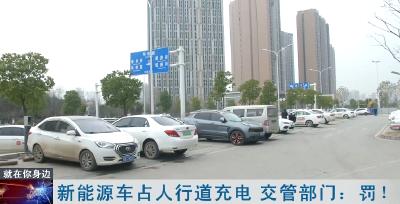 新能源车占人行道充电 交管部门:罚!