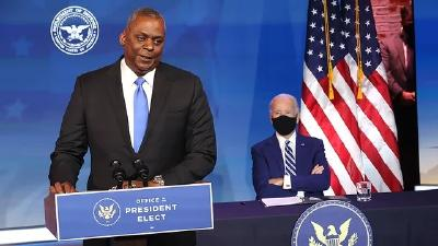 美参议院批准非裔美国人奥斯汀出任国防部长