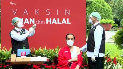 印尼总统佐科注射第二针中国新冠疫苗
