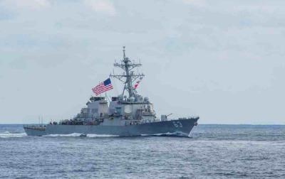 美舰穿航台湾海峡,东部战区发声