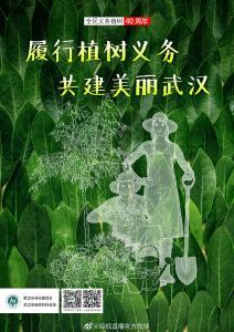 太美!武汉全民义务植树40年清新版海报发布!