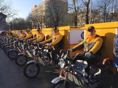 上海:快递外卖电动自行车将悬挂专用号牌
