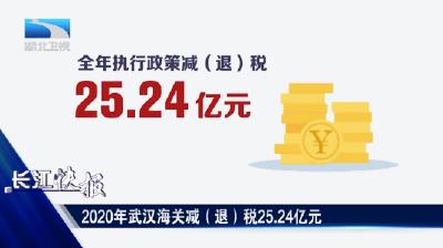 2020年武漢海關減(退)稅25.24億元