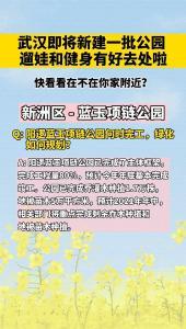 武汉将新建一批公园,你家附近有吗?