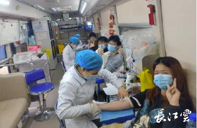 2021年首场高校团体献血活动拉开序幕 武汉这所高校半年内两次组团献血