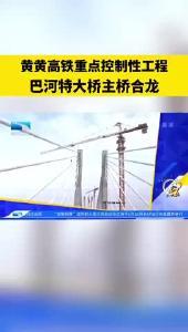 黄黄高铁重点控制性工程巴河特大桥主桥合龙
