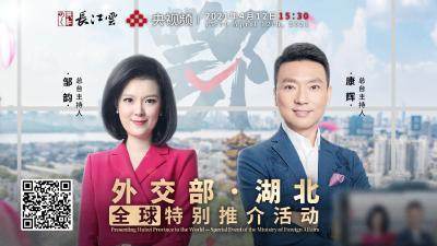 湖北广电联合央视频直播外交部湖北全球特别推介活动