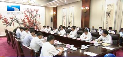 王忠林与国家发改委副主任胡祖才一行座谈