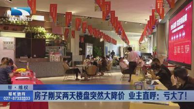 武汉:房子刚买两天楼盘突然大降价  业主直呼亏大了!