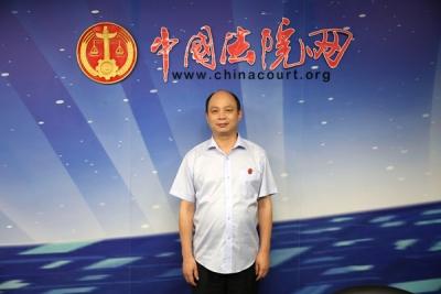 2016年9月28日中国法院网访谈湖北省罗田县人民法院院长姜立勇