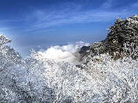 天堂寨拍雪