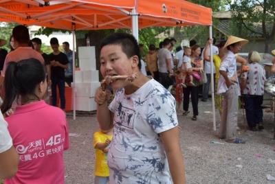 三里畈鎮新鋪村張家沖成功舉辦首屆伏羊節活動
