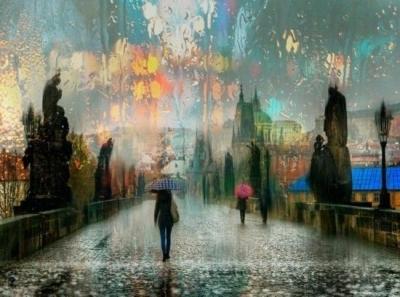 在 小 城 听 雨