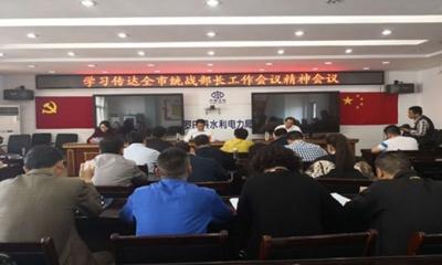 罗田县召开学习传达全市统战部长工作会议精神会议