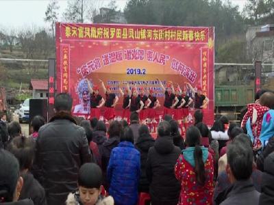 鳳山鎮河東街村開展村企共建文化惠民活動