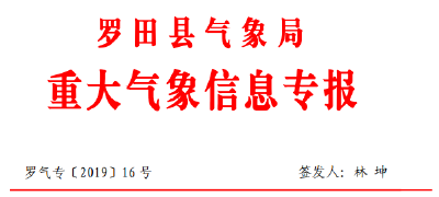 重大气象信息专报(2019/08/02)