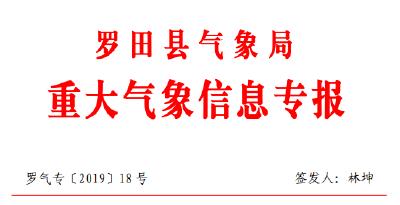 重大氣象信息專報(2019/08/26)