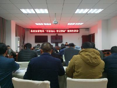 """罗田县应急管理局召开""""不忘初心 牢记使命""""主题教育组织生活会"""