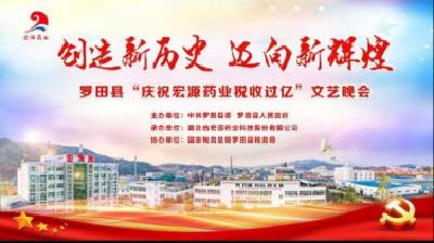 """羅田縣""""慶祝宏源藥業稅收過億""""文藝晚會"""