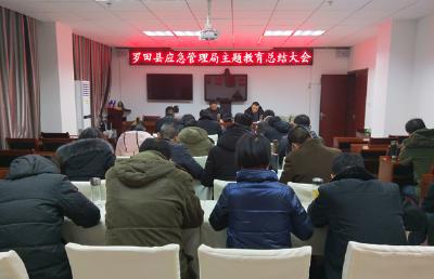 羅田縣應急管理局召開主題教育總結大會