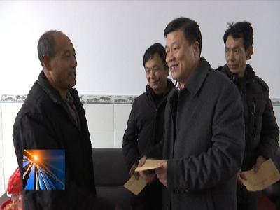 郭建明到勝利鎮看望慰問老黨員、退休干部和困難群眾