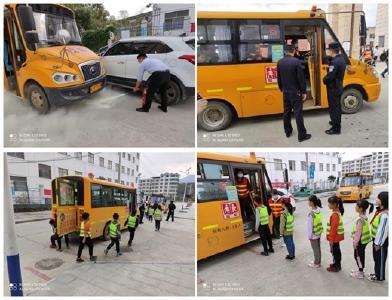 匡河镇积极组织开展校车交通事故应急处置演练活动