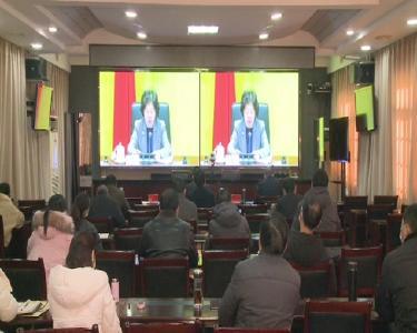 罗田县收听收看全国疫情防控任务电视电话会议