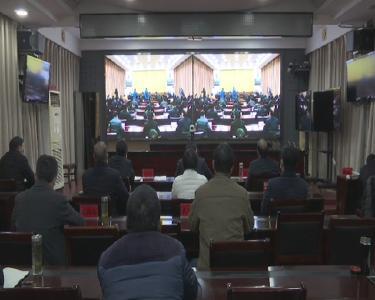 罗田县收听收看全市疫情防控任务电视直播会议