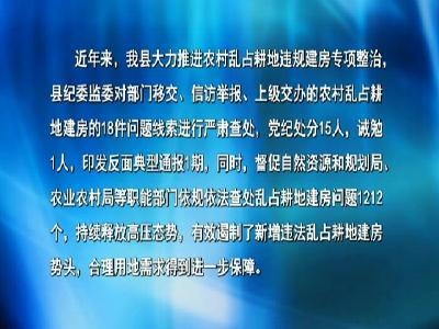 市纪委监委督办罗田县农村乱占耕地违规建房题目治理任务