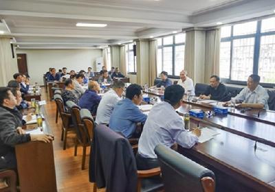 县政府召开迎接新《固体废物污染环境防治法》执法检查会