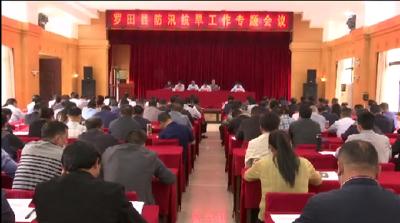 罗田县安排部署今年防汛抗旱工作