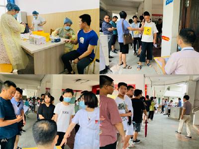 罗田县三里畈高中积极组织学生返校有序接种新冠肺炎疫苗