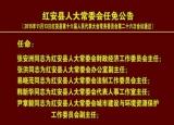 红安县人大常委会任免公告