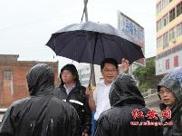 红安洪灾牵动省市县领导的心(组图)