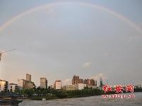 彩虹飛架倒水河(組圖)