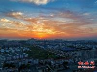夕阳下的经济开发区