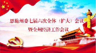 州汉办集中学习州委七届六次全会精神