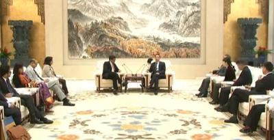 蒋超良会见印度驻华大使唐勇胜