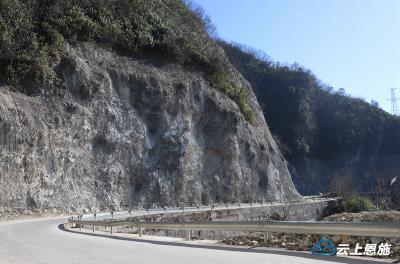 恩施:省道341边坡治理工程已完成85%