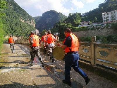 白杨坪林区:防汛演练保安全