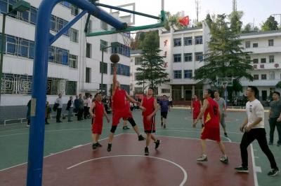 县委党校组织学员举行篮球友谊赛
