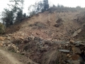 宝丰桂坪村去年山体滑坡未治理