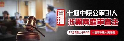 直播:十堰中院公审31人涉黑案庭审直击