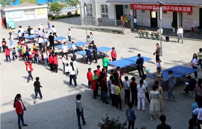 竹坪乡:32名乡村女教师举行乒乓球友谊赛