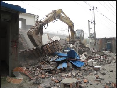 宝丰镇下坝村一越红线建筑物被查封