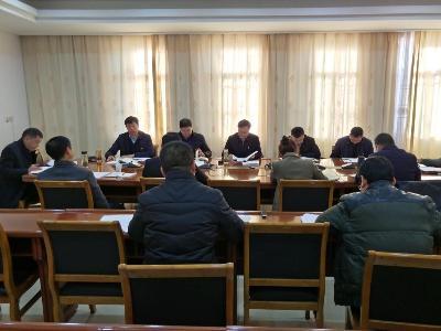 县政府党组召开主题教育专题民主生活会